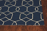 Hamptons Navy Groovy Gate Rug edge