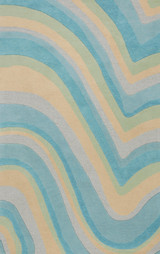 Ocean Vibes Sculpted Wool Luxury Rug