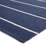 Corbina Pin Striped Indigo Blue Rug corner