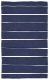 Corbina Pin Striped Indigo Blue Rug