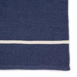 Corbina Pin Striped Indigo Blue Rug close up view