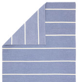 Corbina Pin Striped Eventide Blue Rug corner and back