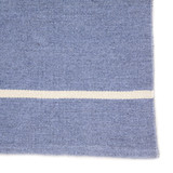 Corbina Pin Striped Eventide Blue Rug close up