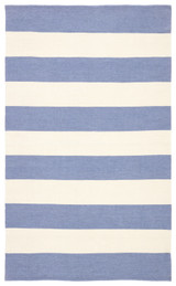 Remora Eventide Blue Striped Rug