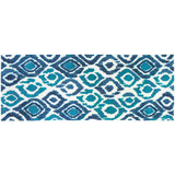 Blue and Turquoise Ikat Accent Rug runner