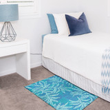 Blue Rainforest Accent Rug room view 1