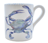 Blue Crab Large Mugs - Set of 3