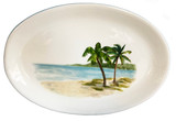 Palm Breezes Large Oval Serving Platter