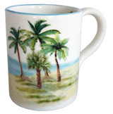 Palm Breezes Large Handled Mugs - Set of 3