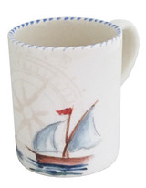 Sailboat Large Handled Mugs - Set of 3