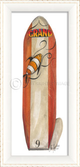 Number Nine Red Surfboard Art