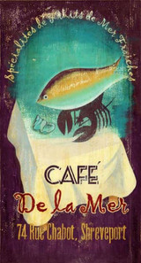 De La Mer Cafe Beach Sign