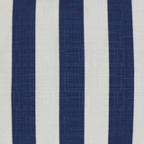 Classic Navy and White Cabana Striped Outdoor Lux Pillow  close up fabric image