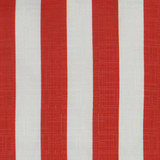 Classic Red and White Cabana Striped Rectangle Outdoor Lux Pillow fabric close up