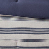 Colby Harbor Navy Stripe Queen Duvet Set close up