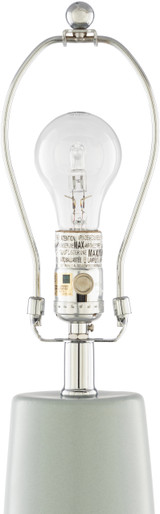 Vaughn Bay Table Lamp close up finial and top