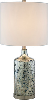 Ormand Blue Mercury Glass Table Lamp light on