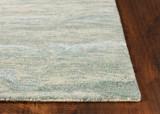 Serenity Seafoam Breeze Luxury Wool Rug corner close up