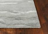 Serenity Slate Storm Luxury Wool Rug corner