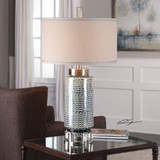 Vanora Cerulean Blue Table Lamp room view