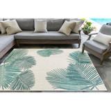 Aqua Carmel Tropical Palm Rug room image