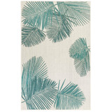 Aqua Carmel Tropical Palm Rug