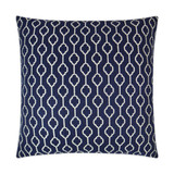 Striker Indigo Blue and White Pillow