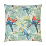 Macaw and Palms Pillow