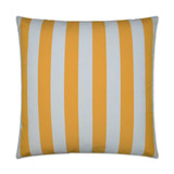 Sunshine Cabana Striped 22 x 22 Outdoor Lux Pillow