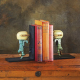 Outboard Motor Bookends Painted room view