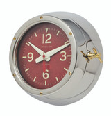 Polished Aluminum Deep Sea Wall Clock