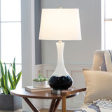 Julissa Coastal Splashed Table Lamp room view