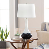 Julissa Coastal Splashed Table Lamp room view 2