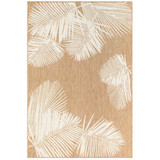 Sand and Ivory Carmel Tropical Palm Rug