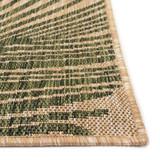 Carmel Tropical Green Palm Rug corner and pile