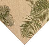 Carmel Tropical Green Palm Rug corner