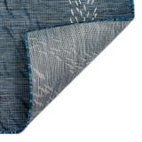 Navy Blue School of Fish Carmel Rug back of rug