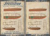 Vintage Speedboat Tapestry Wall Art example