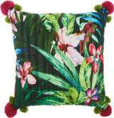 Royal Palm Tropical Garden Throw Pillow
