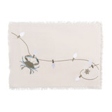 Embroidered Holiday Crab Placemats - Set of 4