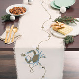 Embroidered Holiday Crab Table Runner