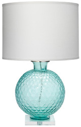 Clark Table Lamp in Aqua Glass