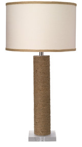 Cylinder Rope Table Lamp Wrapped in Jute
