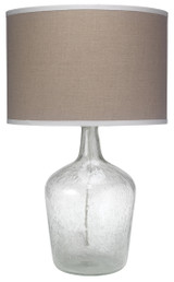 Clear Seeded Glass Jar Table Lamp