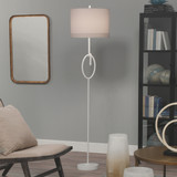 Knot Floor Lamp in White Gesso with Wide Oval Shade room image