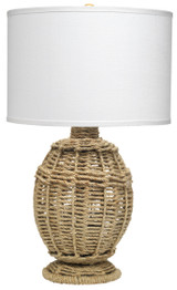 Jute Wrapped Urn Table Lamp
