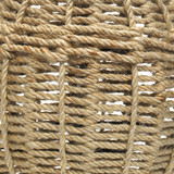Jute Urn Table Lamp close up weave