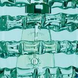 Small Aqua Blue Glass Ribbon Pendant