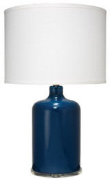 Napa Table Lamp in Navy Pharmacy Glass