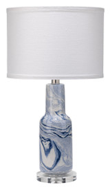 Blue Marble Swirled Table Lamp